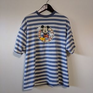 VTG single stitched Mickey mouse striped t shirt